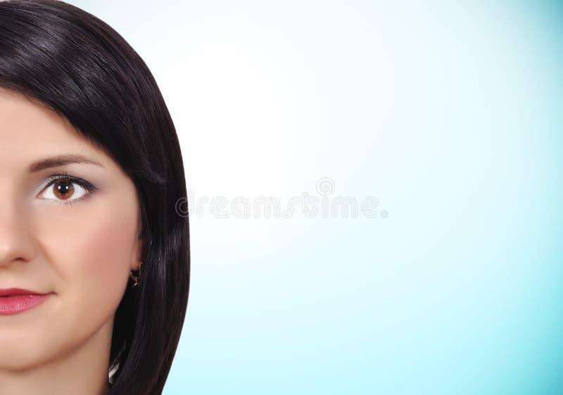 Meisje met schone huid stock foto