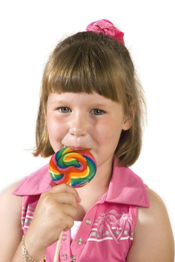 Meisje met suikergoed royalty-vrije stock afbeelding