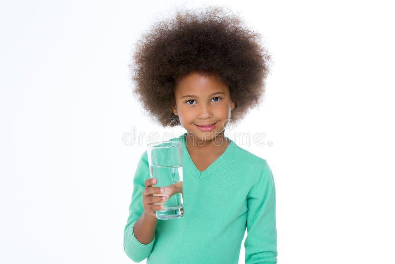 Meisje met water royalty-vrije stock foto