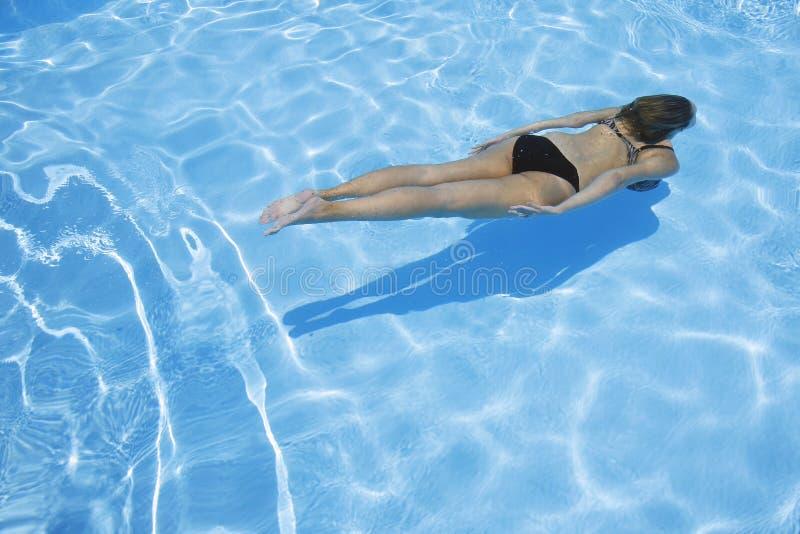 Meisje Onderwater royalty-vrije stock foto's
