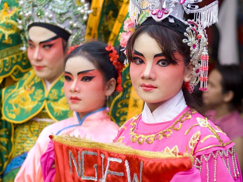 Meisje op Chinees Nieuwjaar stock foto