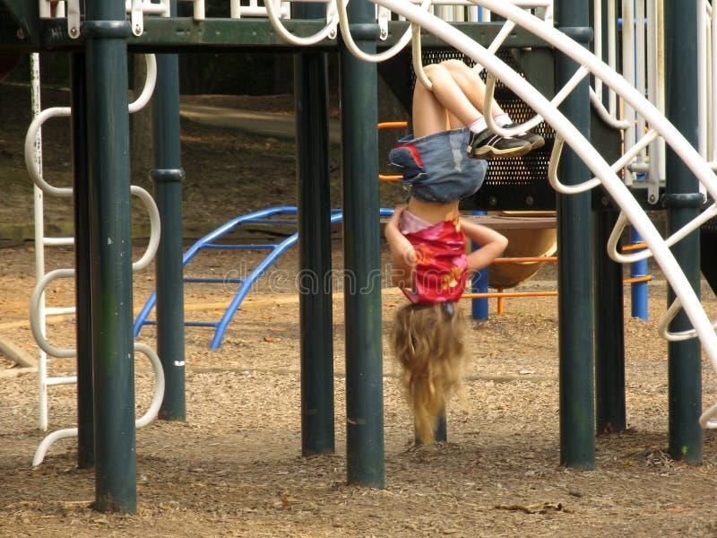 Meisje Op De Speelplaats Redactionele Stock Foto