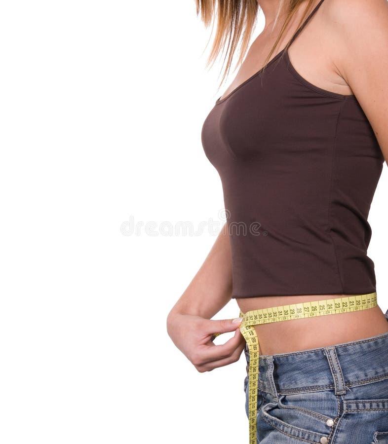 Meisje op dieet stock afbeeldingen