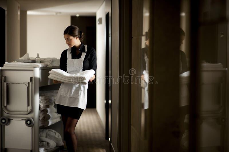 Meisje op het Werk royalty-vrije stock fotografie
