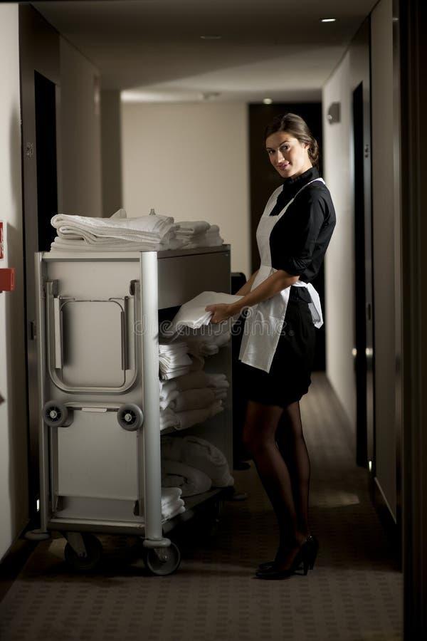 Meisje op het Werk stock foto