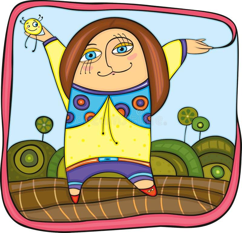 Meisje in park royalty-vrije illustratie