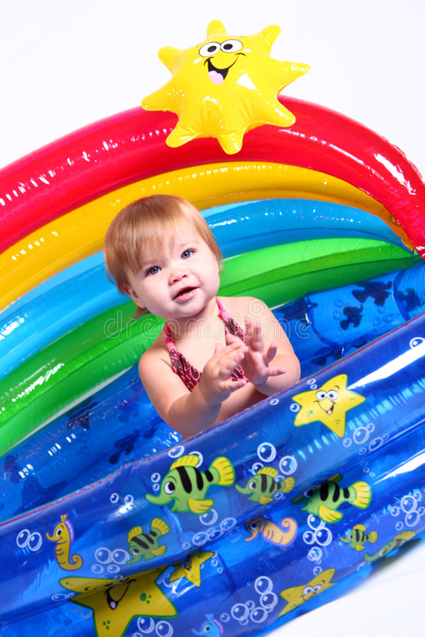 Meisje - Pret 3 van de Pool royalty-vrije stock fotografie