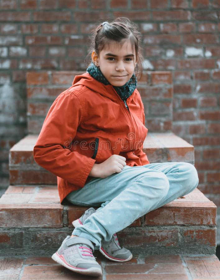 Meisje stedelijk portret royalty-vrije stock afbeelding
