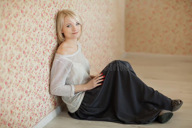 Meisje in studio royalty-vrije stock fotografie