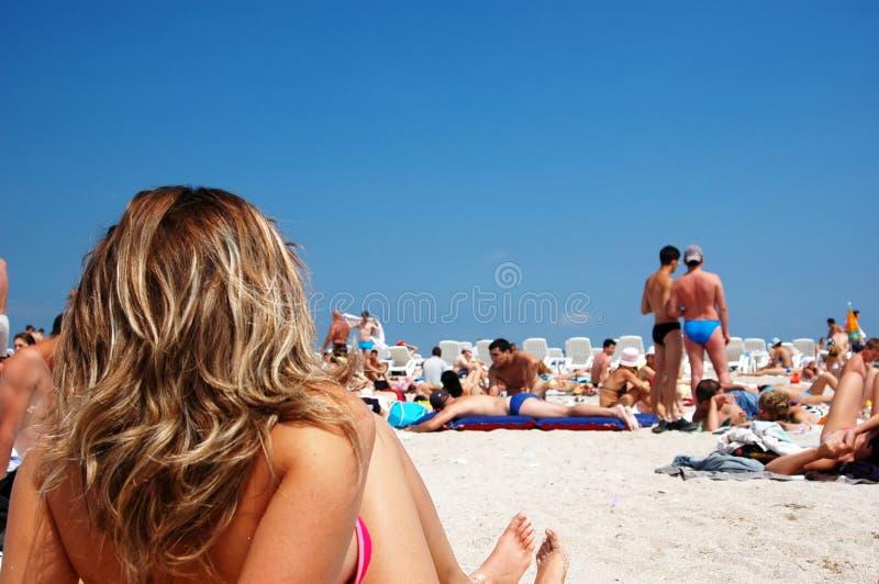 Meisje in vakantie royalty-vrije stock foto