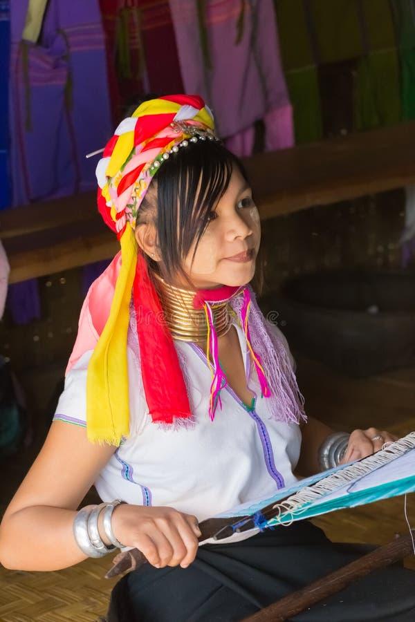 Meisje van de stam Kayan Padaung, Myanmar royalty-vrije stock afbeeldingen