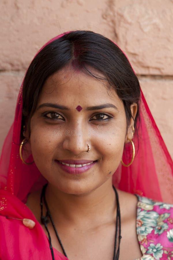 Meisje van Rajasthan in India stock afbeeldingen