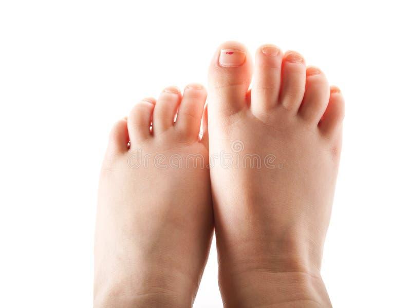 Meisje, voeten royalty-vrije stock afbeelding