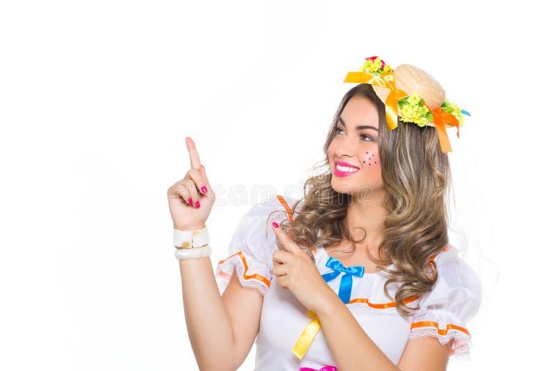 Meisje voor Juni-festival royalty-vrije stock afbeeldingen
