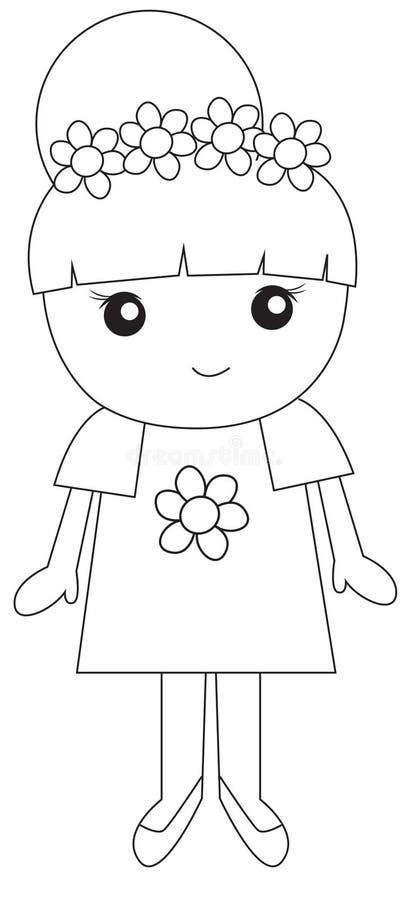 Meisjeillustratie stock illustratie