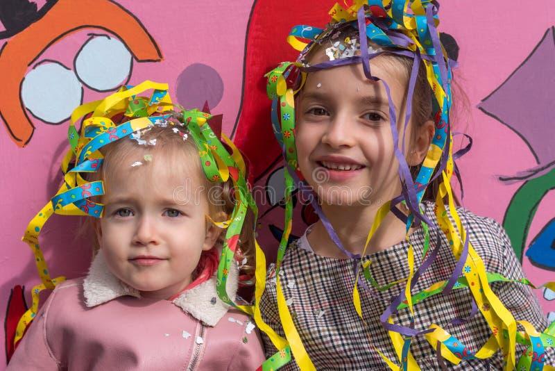 Meisjes in Carnaval royalty-vrije stock foto's