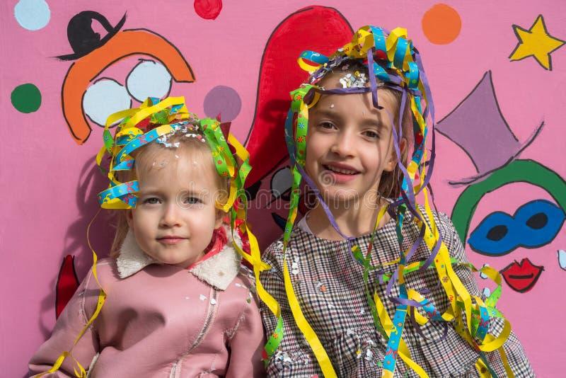 Meisjes in Carnaval stock fotografie
