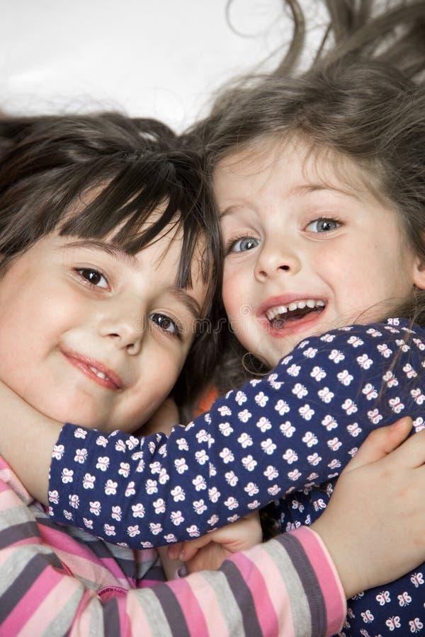 Meisjes in de speelkamer royalty-vrije stock fotografie