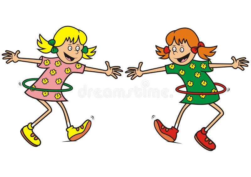 Meisjes, gymnastiek stock illustratie