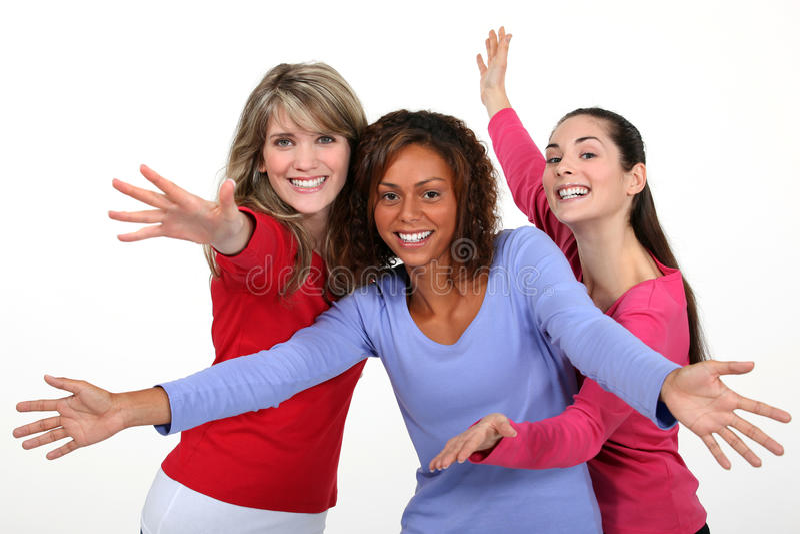 Meisjes het dansen stock foto's