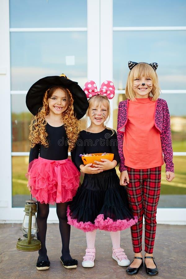 Meisjes met suikergoed royalty-vrije stock afbeelding