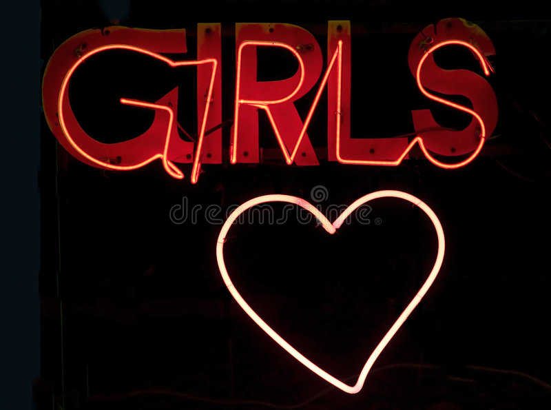 Meisjes in neon stock fotografie