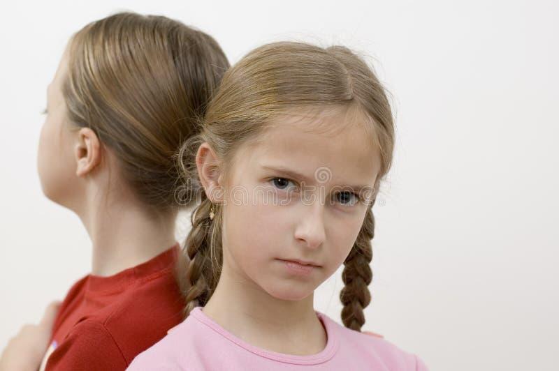 Download Meisjes/problemen stock foto. Afbeelding bestaande uit blauw - 285808