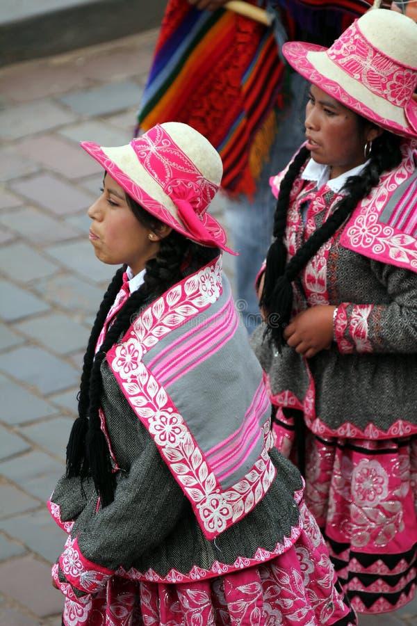 Meisjes van Cusco stock foto