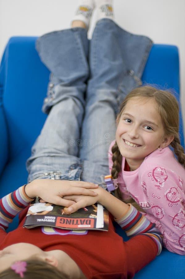 Download Meisjes/wit stock foto. Afbeelding bestaande uit blauw - 285912