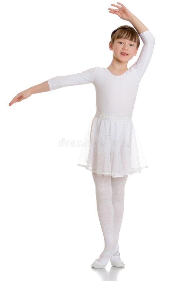 Meisjesballerina royalty-vrije stock foto