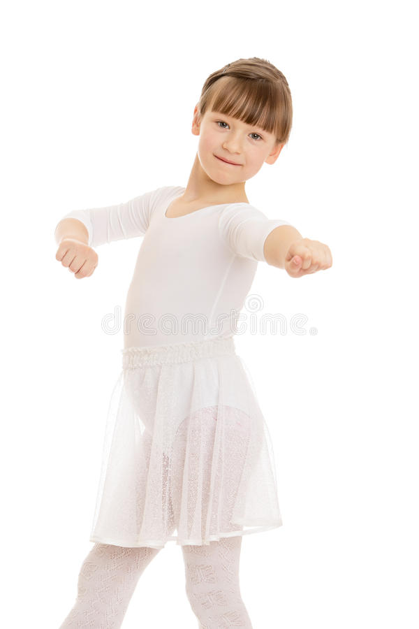 Meisjesballerina stock fotografie