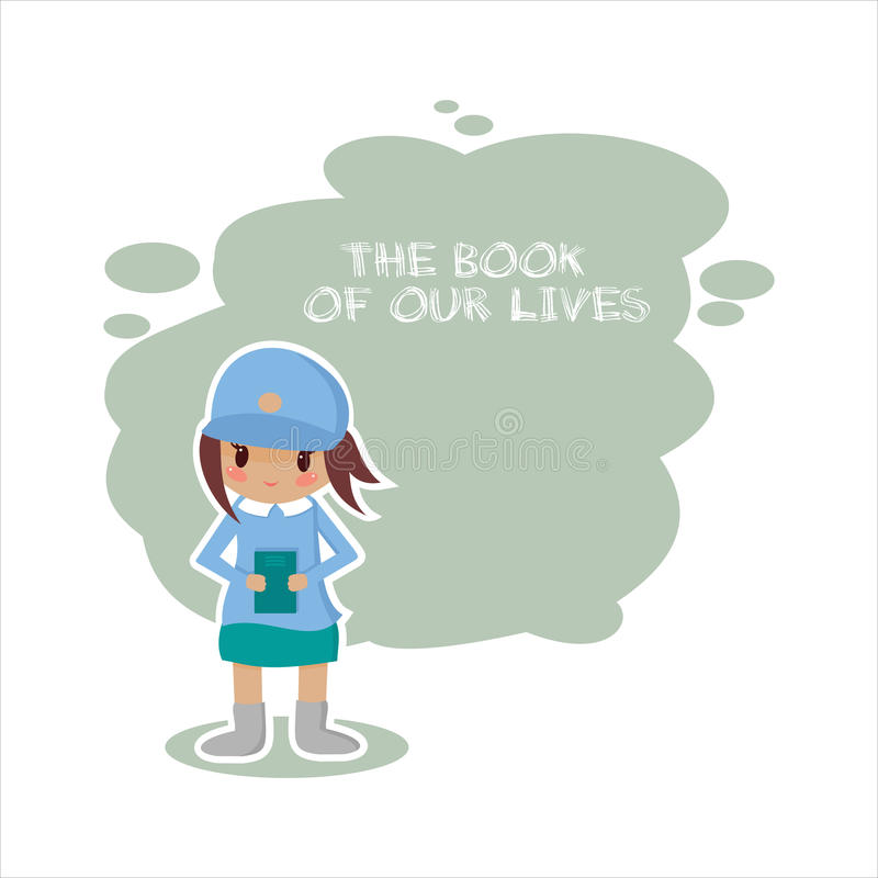 Meisjesbibliothecaris in vectorformaat royalty-vrije illustratie