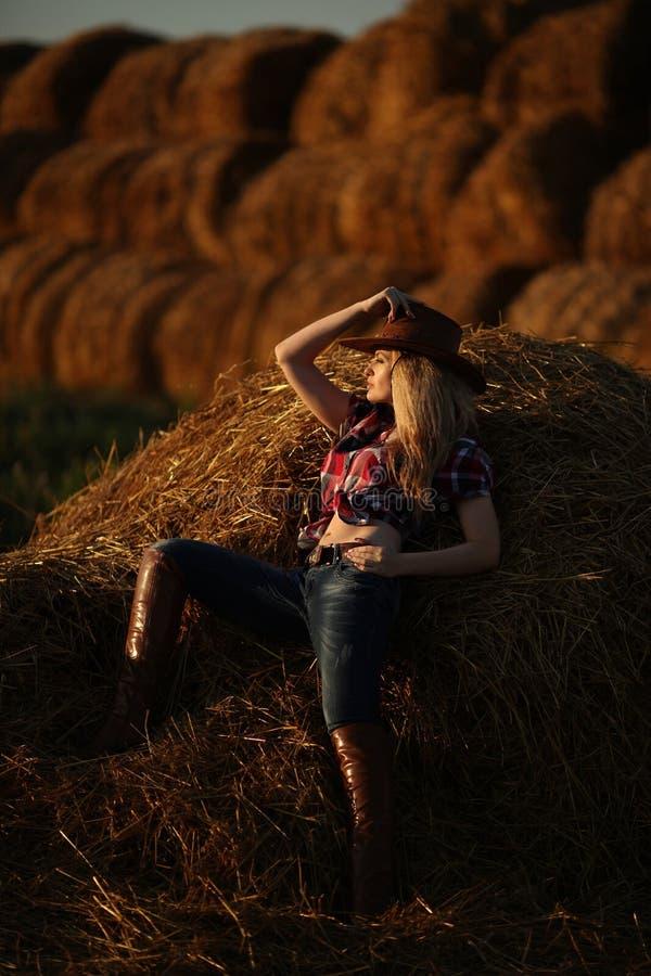 Meisjescowboy stock afbeelding