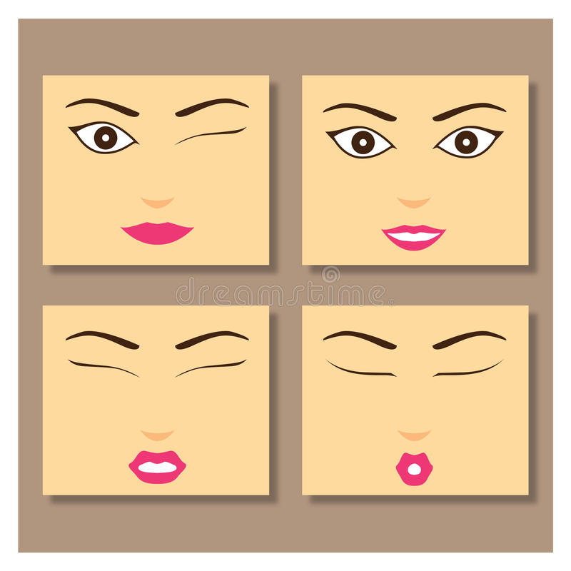 Meisjesgezicht stock foto