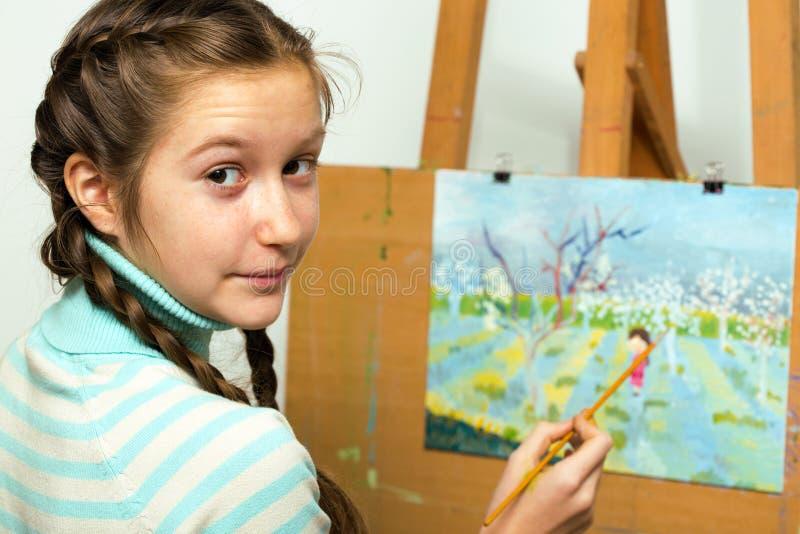 Meisjeskunstenaar royalty-vrije stock foto's
