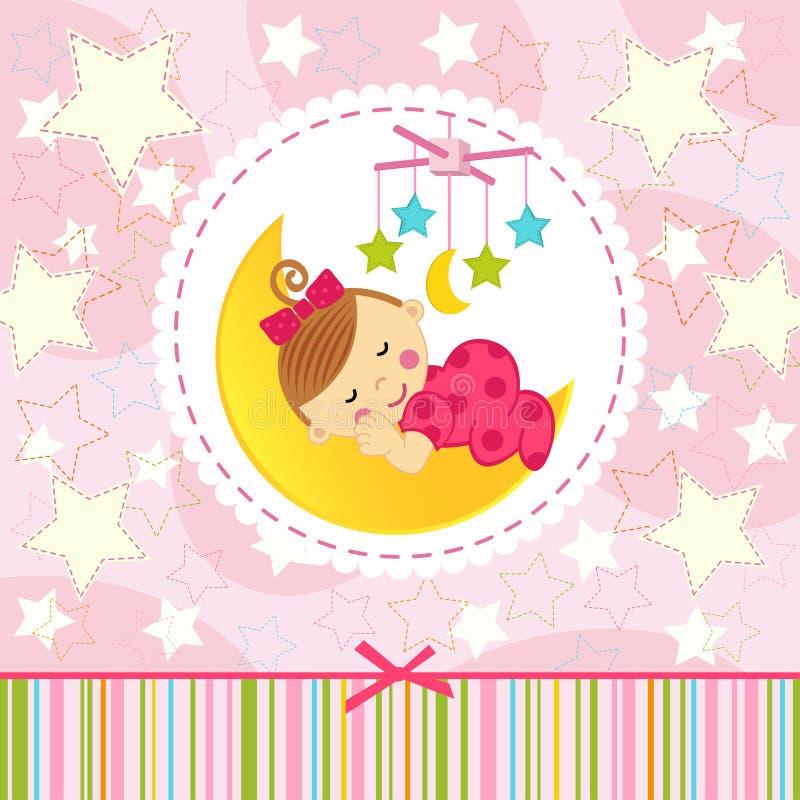 Meisjeslaap royalty-vrije illustratie