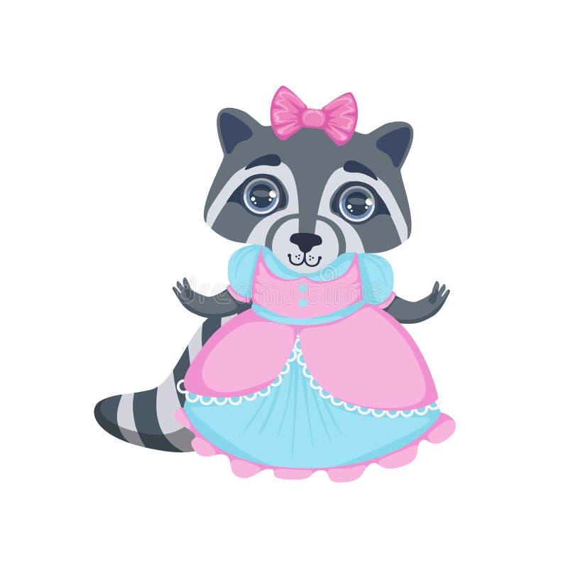 Meisjeswasbeer in Kostuum royalty-vrije illustratie