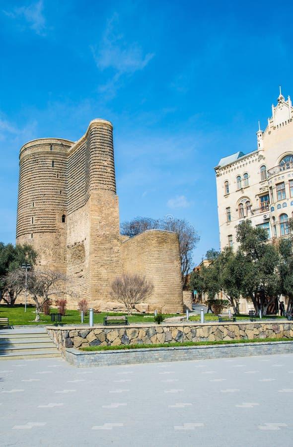 Meisjetoren in Baku, Azerbeidzjan stock fotografie