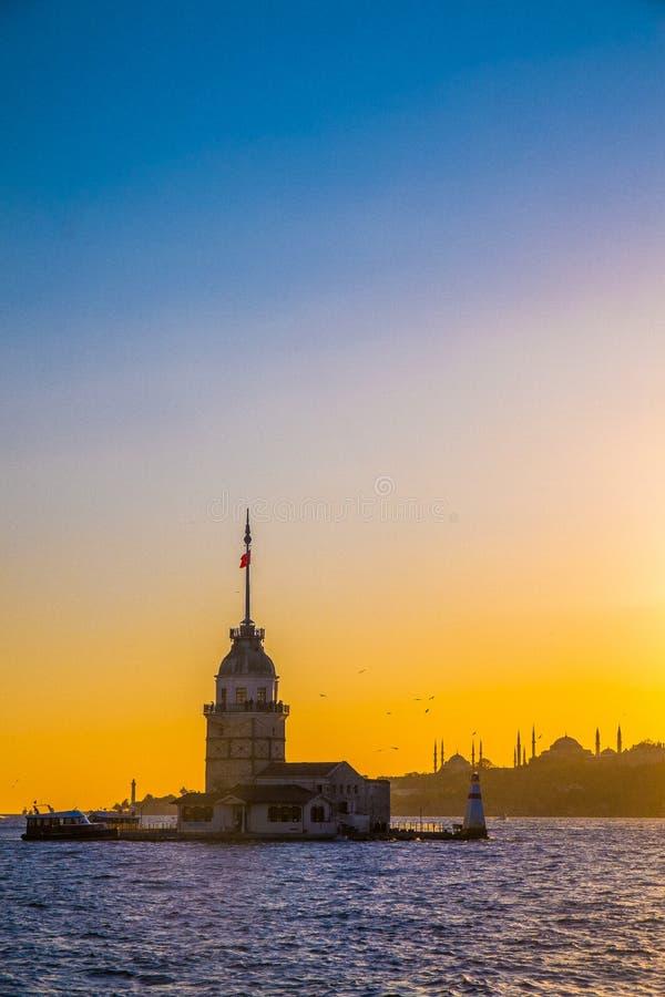 Meisjetoren, Istanboel stock fotografie