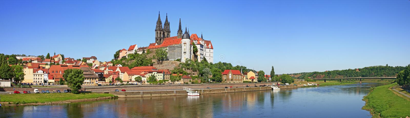 Meissen на реке Elbe, Германии стоковое изображение
