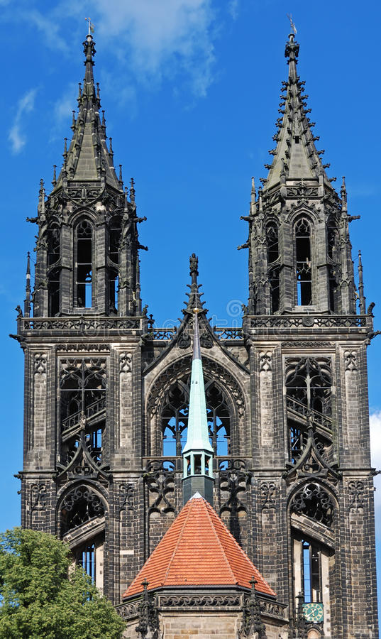 Meissen Cathedral stock images
