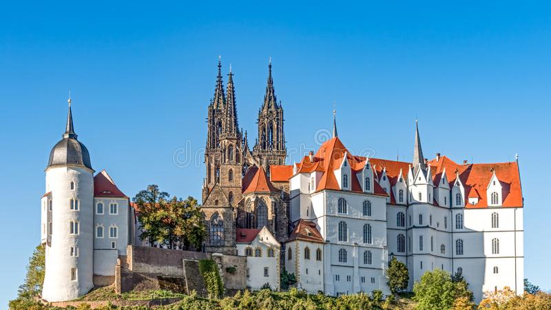 Meissen Cathedral and Castle Albrecht, saxony, Germany royalty free stock photography