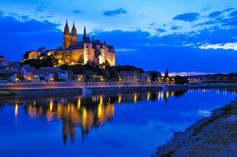 Download Meissen at night stock photo. Image of beautiful, medieval - 15453424