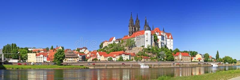 Meissen no rio de Elbe, Alemanha fotografia de stock royalty free