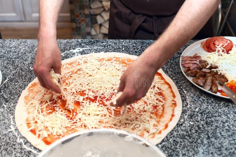 Meister de la pizza imagen de archivo