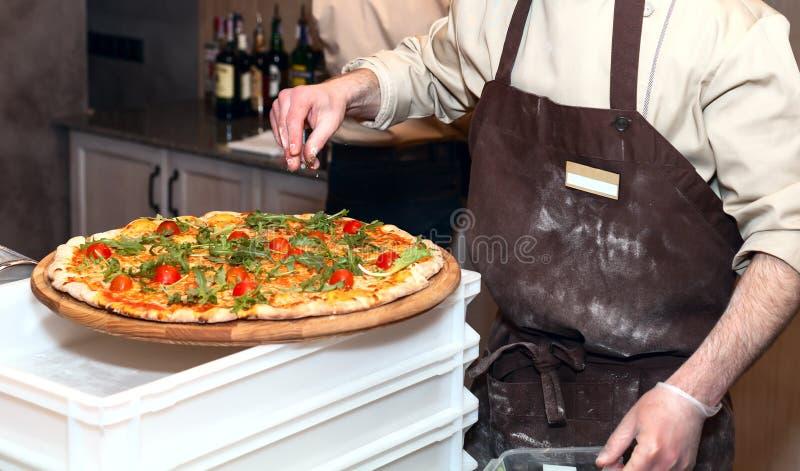Meister de la pizza imagenes de archivo