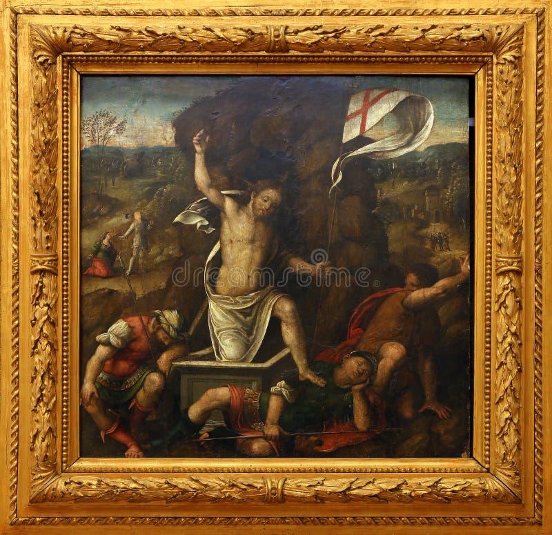 Meister der zwölf Apostel: Auferstehung lizenzfreie stockfotos