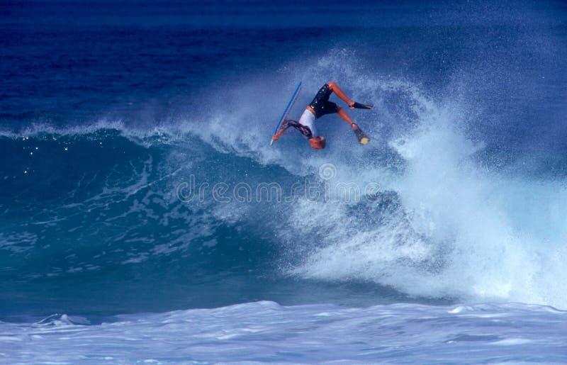 Meister Jeff-Hubbard Bodyboarding stockbild