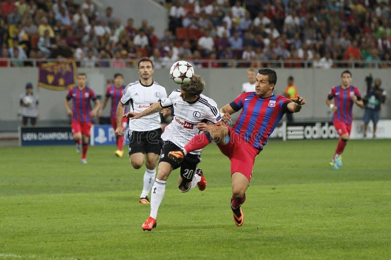 Meister-Liga: Steaua Bukarest - Legia Warschau stockfotografie
