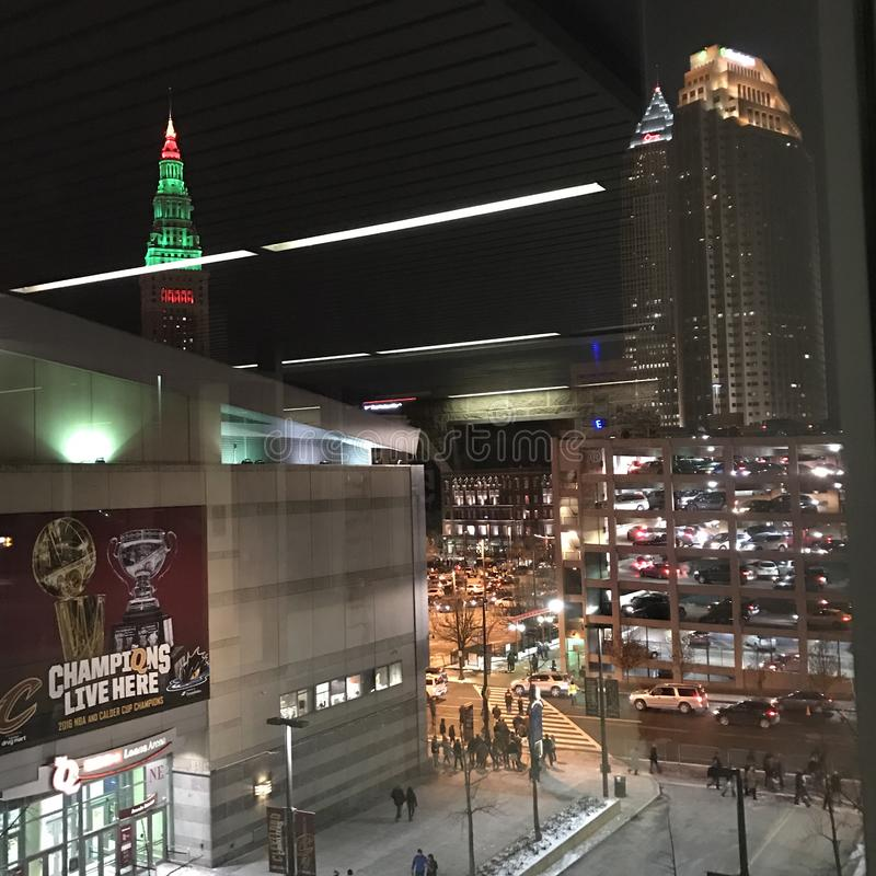 Meister Live Here - die q-Arena in Cleveland, Ohio lizenzfreies stockfoto